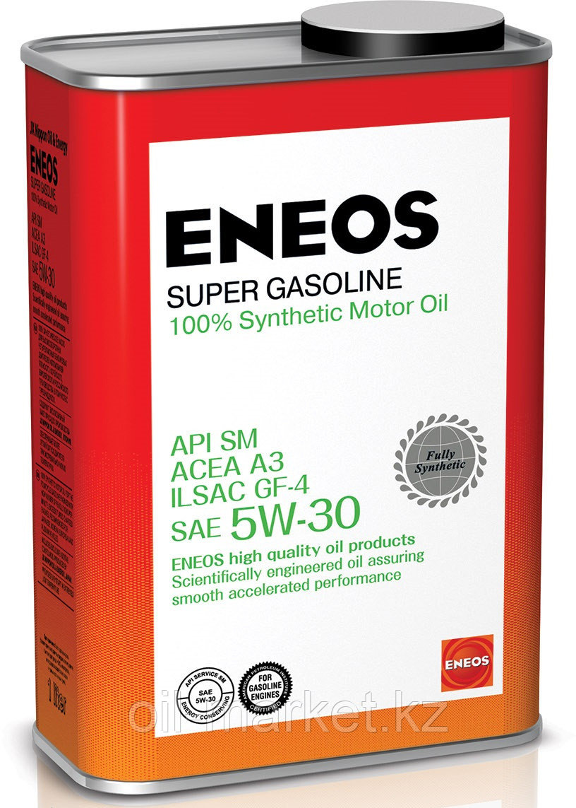 Моторное масло ENEOS SUPER GASOLINE 5w-30 Synthetic (100%) 4 л