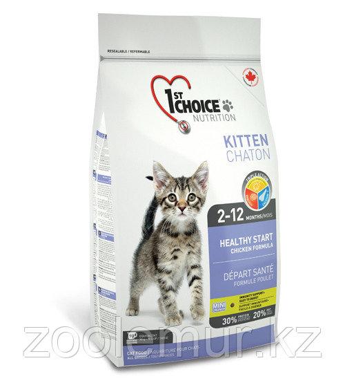 1st Choice «Здоровый старт» для котят от 2 до 12 месяцев, на основе курицы  2.72 кг.