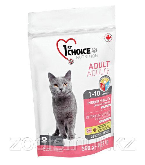 1st Choice VITALITY indoor «Виталити» на основе курицы - для взрослых домашних кошек от года до 10 лет 350 гр.