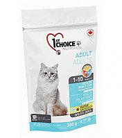 1st Choice «Здоровая кожа и Шерсть» с лососем - для кошек от 1 года до 10 лет 350 гр., фото 1