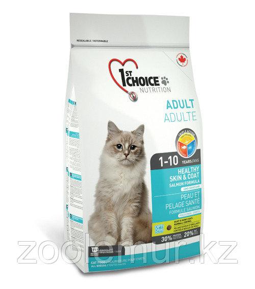 1st Choice «Здоровая кожа и Шерсть» с лососем - для кошек от 1 года до 10 лет  5.44 кг.