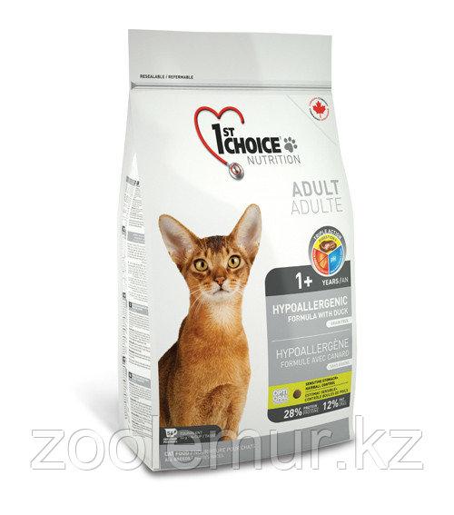 1st Choice гипоаллергенный с уткой и картофелем - для кошек  5.44 кг.