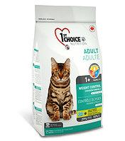 1st Choice «Контроль Веса» с курицей - для взрослых кастрированных и стерил. кошек от 1 года и старше 2.72 кг., фото 1