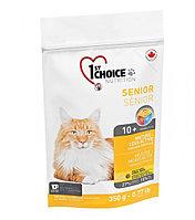 1st Choice Mature or Less Active с курицей - для стареющих и малоактивных кошек от 10 лет и старше 350 гр.