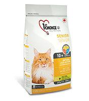 1st Choice Mature or Less Active с курицей - для стареющих и малоактивных кошек от 10 лет и старше 5.44 кг., фото 1