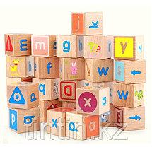 Деревянные кубики английский алфавит (26 шт), фото 3