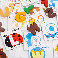 Карточки-вкладыши с буквами английского алфавита