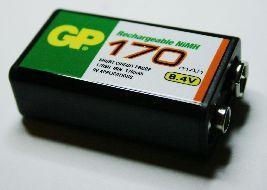 Аккумулятор 9v (170 mA) GP 170 mAh