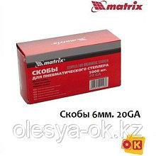 Скобы 6 мм, 20GA/53F для пневма. степлера. MATRIX