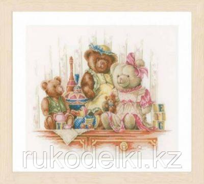 """Набор для вышивания крестом """" Bears and Toys"""""""
