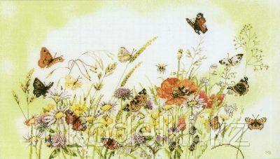 "Набор для вышивания крестом ""Flowers and Butterfly"""