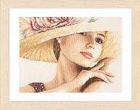 """Набор для вышивания крестом """"Lady with Hat """""""