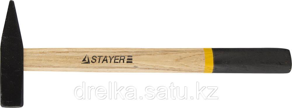 Молоток слесарный 300 г с деревянной рукояткой, STAYER Master 2002-03