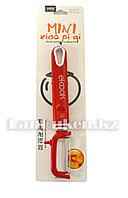 """Овощечистка """"El-Cook"""" вертикальная с пластиковой ручкой красная"""