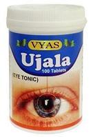 Ujala tab (Уджала таблетки) VYAS - фитопрепарат для снятия напряжения с глаз и ясности зрения, фото 1