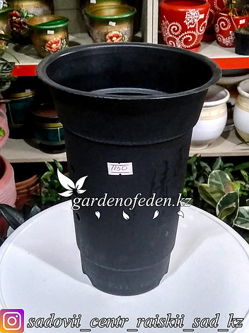 Пластиковый горшок для орхидей. Объем: 1.5л. Цвет: Черный., фото 2