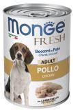 Monge Fresh с курицей 400г Мясной рулет для собак Chunks in Loaf Chicken Adult