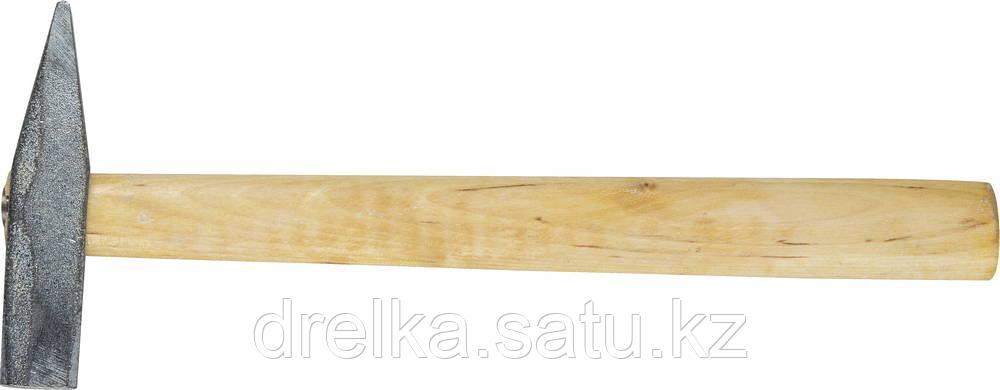 Молоток слесарный 200 г с деревянной рукояткой, оцинкованный, НИЗ 2000-02