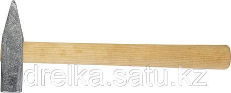Молоток слесарный 400 г с деревянной рукояткой, оцинкованный, НИЗ 2000-04, фото 2