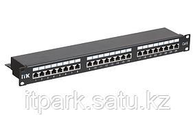 PP24-1UC6S-D05 ITK 1U патч-панель кат.6 STP, 24 порта (Dual), с кабельным органайзером