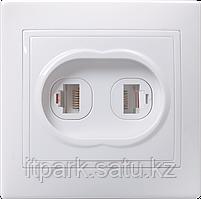 ETK20-K01-DM PT12-КБ Розетка 2местн.телефонная КВАРТА (белый)