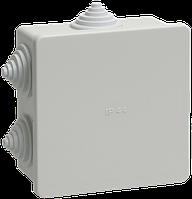 UKO11-085-085-040-K41-44 Коробка КМ41235 распаячная для о/п 85х85х45 мм IP44 RAL7035, 6 гермовводов