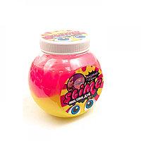 """Жвачка для рук Slime """"Mega Mix"""" с трубочкой (розовый-желтый), 500  гр."""