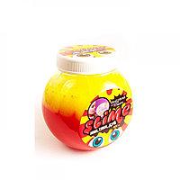 """Жвачка для рук Slime """"Mega Mix"""" с трубочкой (желтый-клубничный), 500  гр."""