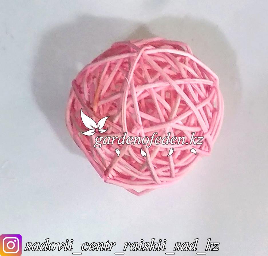 Флористический плетеный клубок, розовый.