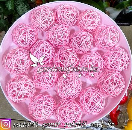 Флористический плетеный клубок, розовый., фото 2