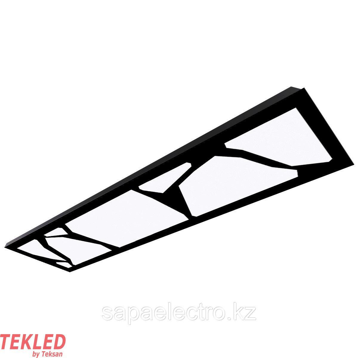 Св-к  OPALLED MARBLE 48W BLACK S/A  1200x300 4500K
