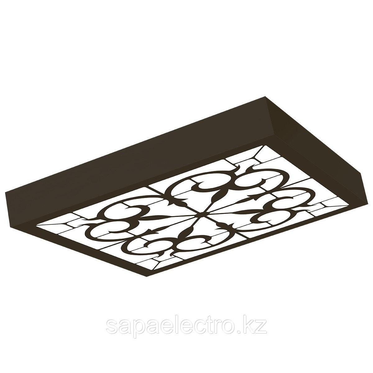 Св-к  OPALLED ORNAMENT 48W BLACK S/U  600x600 5700K