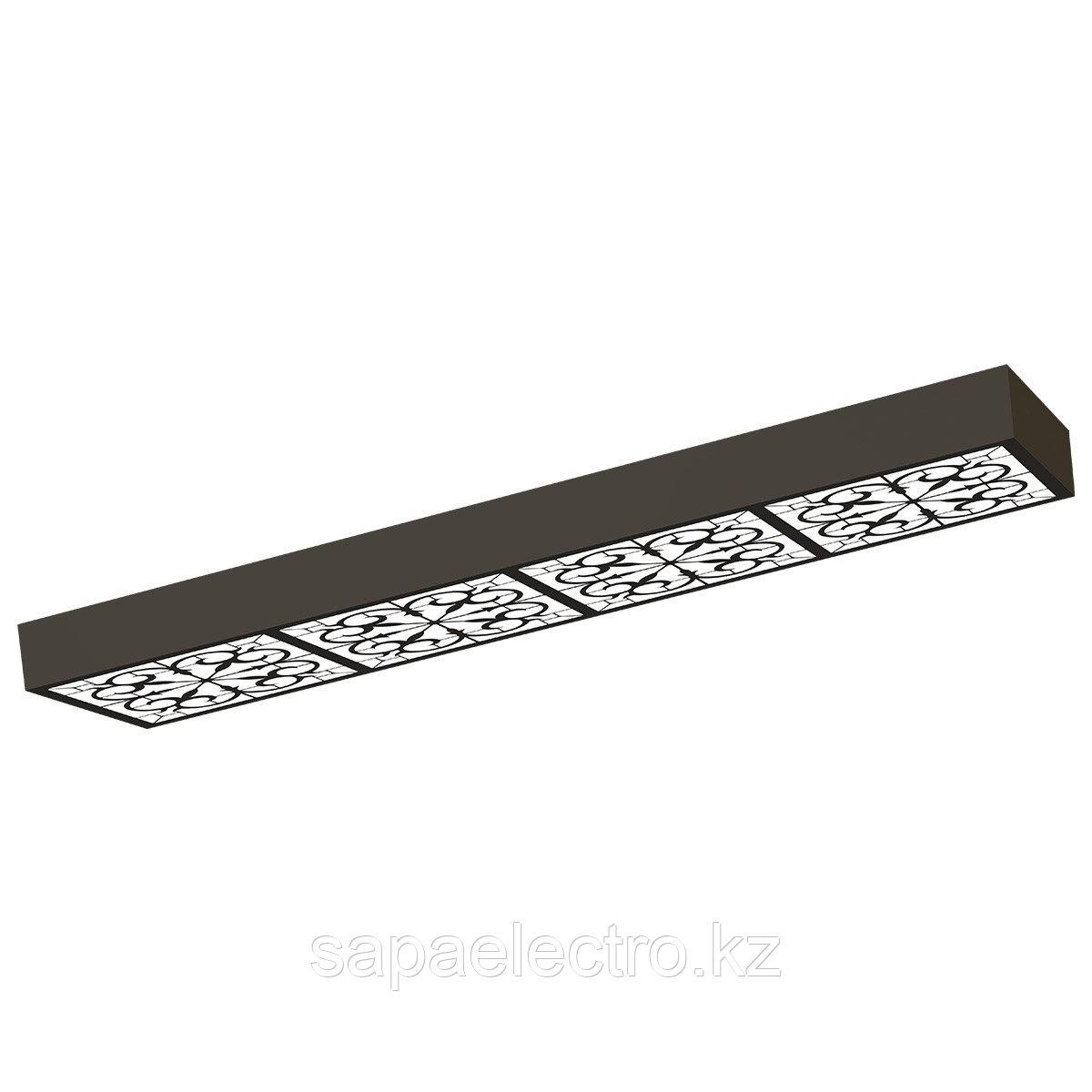 Св-к  OPALLED ORNAMENT 48W BLACK S/U  1200x300 3000