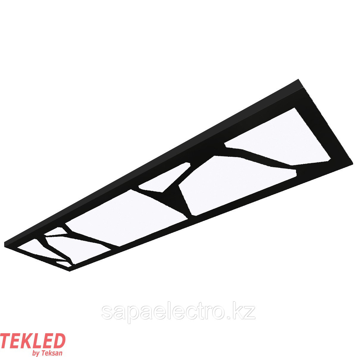 Св-к  OPALLED MARBLE 48W BLACK S/U  1200x300 5700K