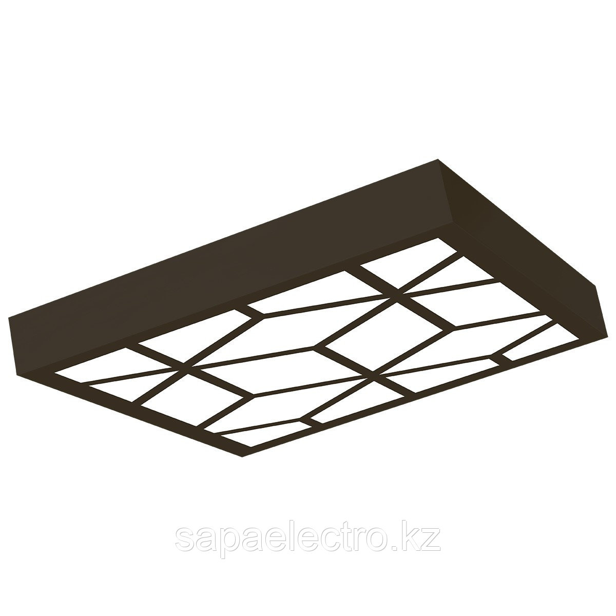 Св-к  OPALLED VITRAGE 48W BLACK S/U  600x600 5700K