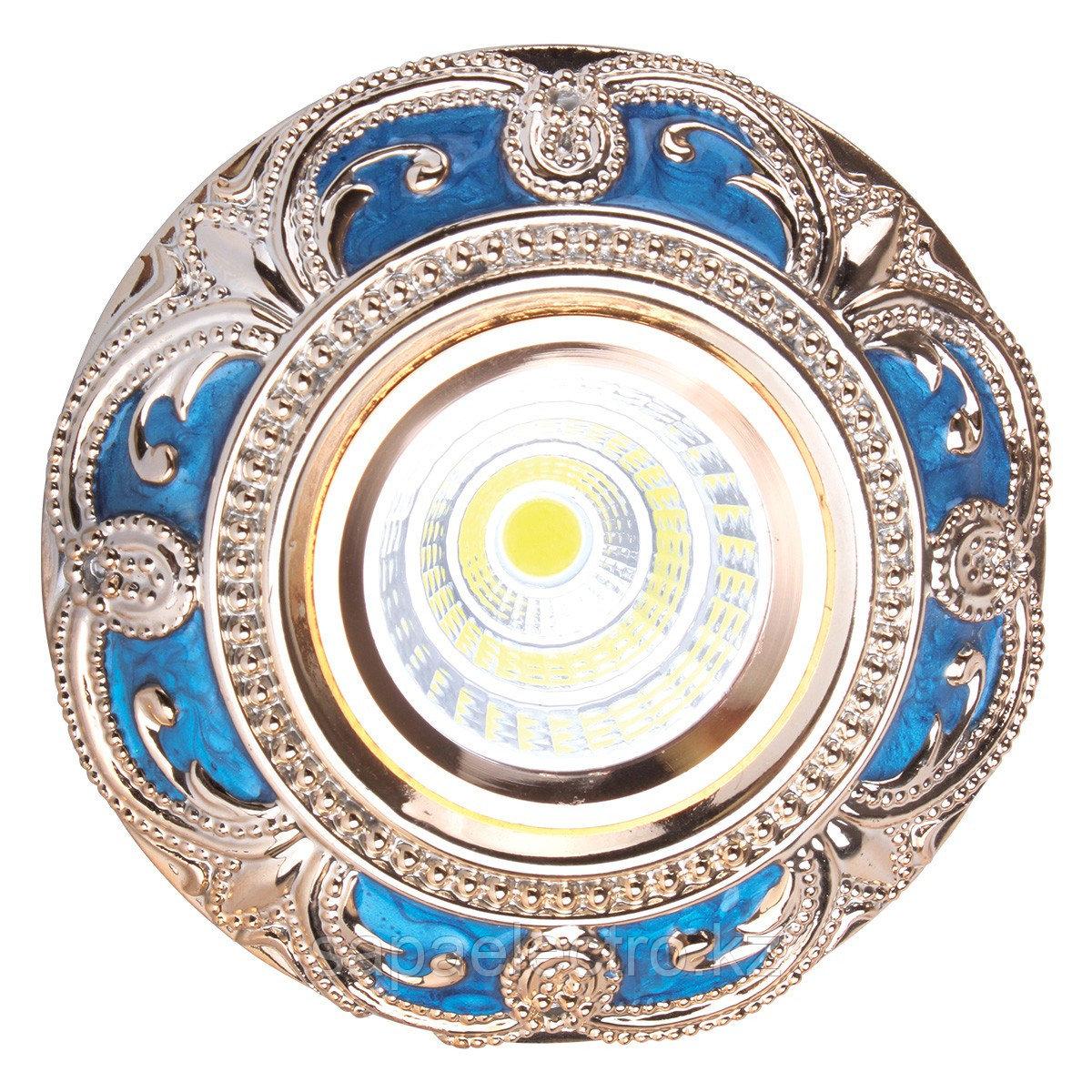 Спот MR16 YS5059 SHINE BLUE+ GOLD  GU5.3 (TEKSAN) 1