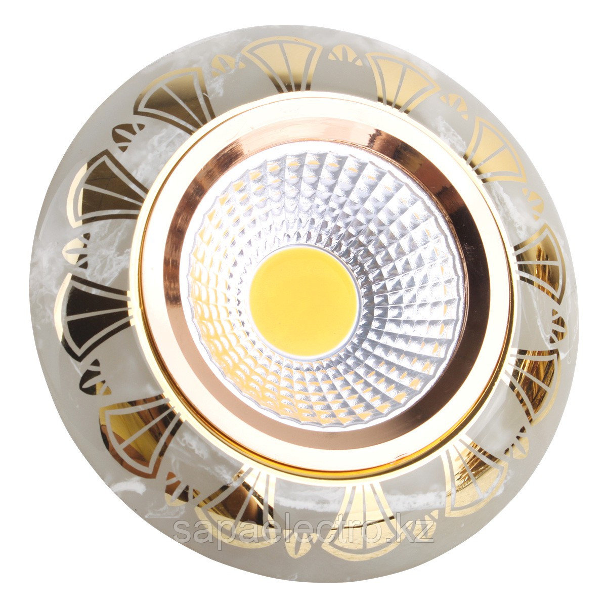 Спот MR16 YS7003 MARBLE+ GOLD  GU5.3 (TEKSAN) 100шт