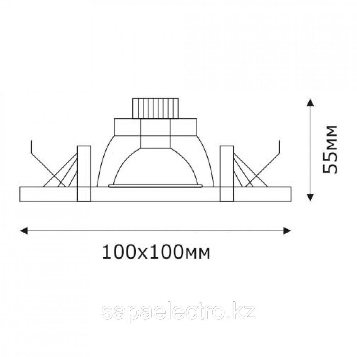 Спот LED QX GOLD SQUARE 3W 5000K (TS) 60шт
