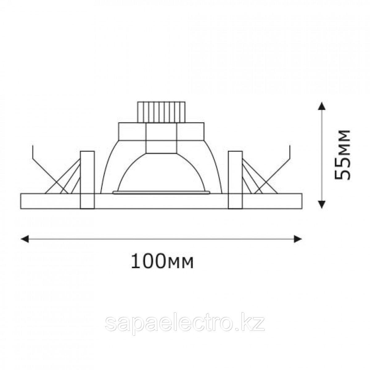 Спот LED SPD-DBWFDF ROUND 3W 5000K (TS) 60шт