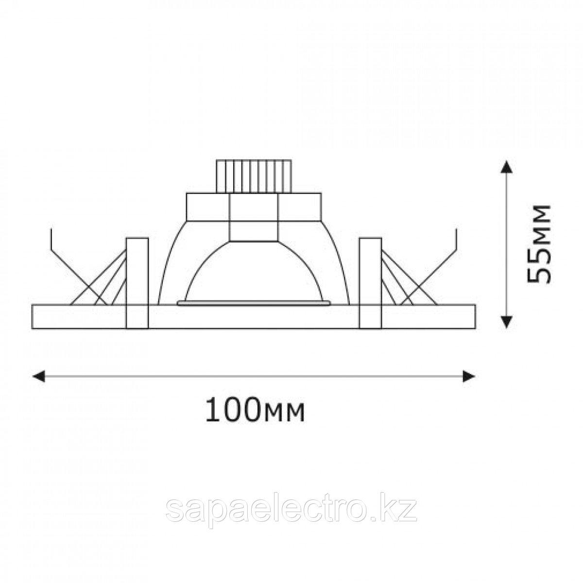 Спот LED QX4-346 ROUND 3W 5000K (TS) 60шт
