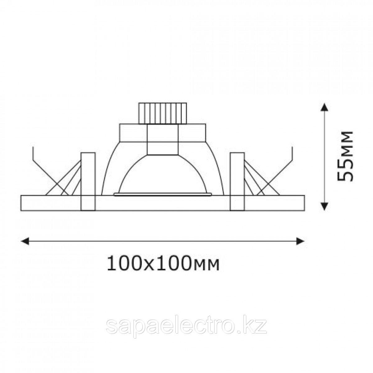 Спот LED QS-G27AB SQUARE 3W 5000K (TS) 60шт