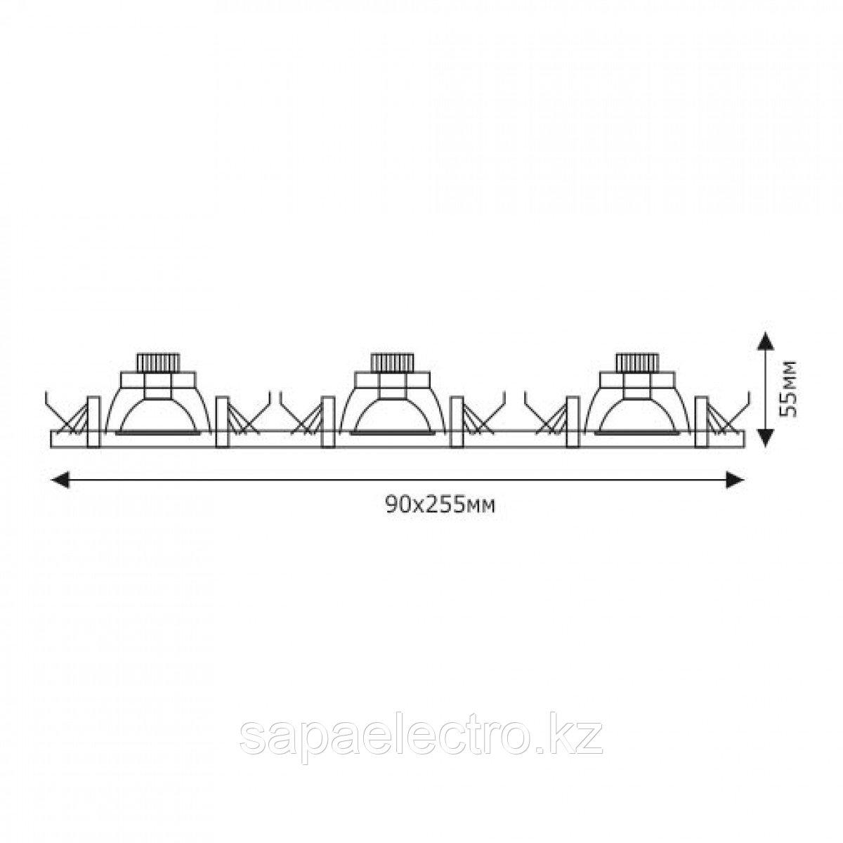 Спот LED JC65648-3 3х3W 5000K (TS) 50шт
