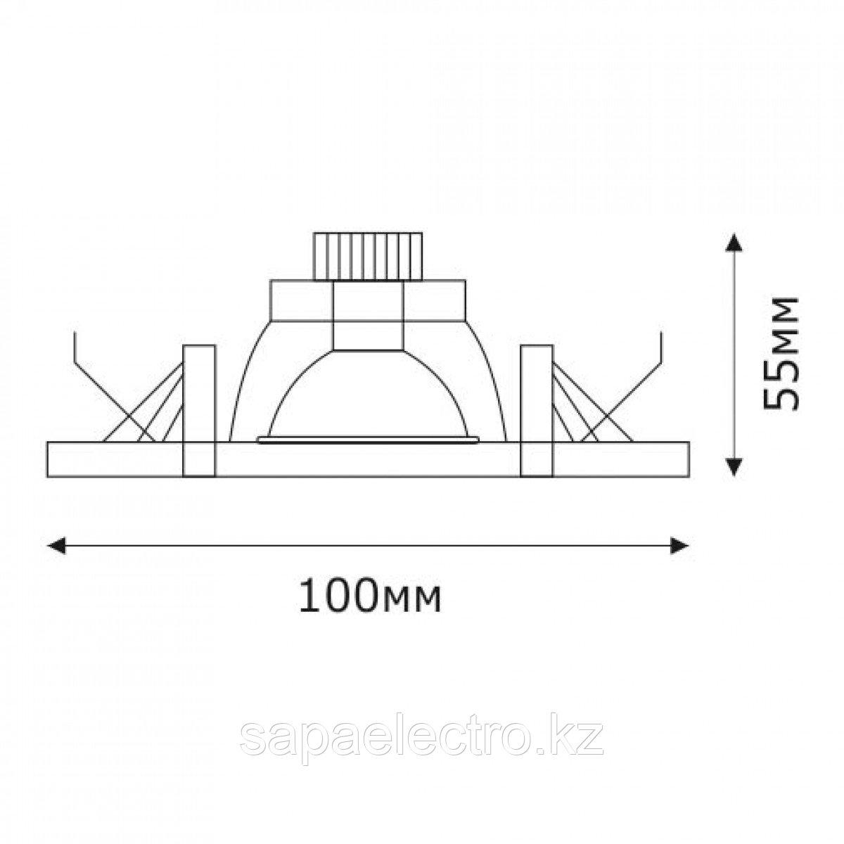 Спот LED QZFG-02 ROUND 3W 5000K (TS) 60шт