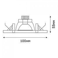 Спот LED TC-02 ROUND 3W 5000K (TS) 60шт