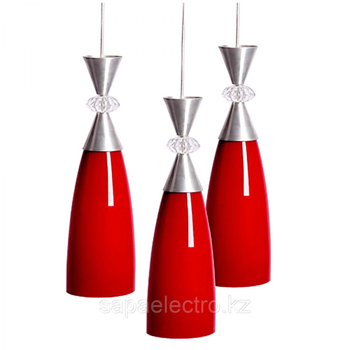 Свет-к  8048-3  E27  SHINY RED TEKSAN (2шт)