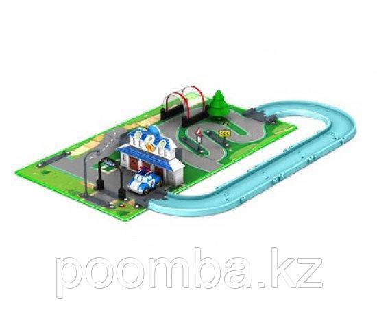 Robocar Poli Набор «Город» Штабквартира (металлическая машинка Поли в комплекте)