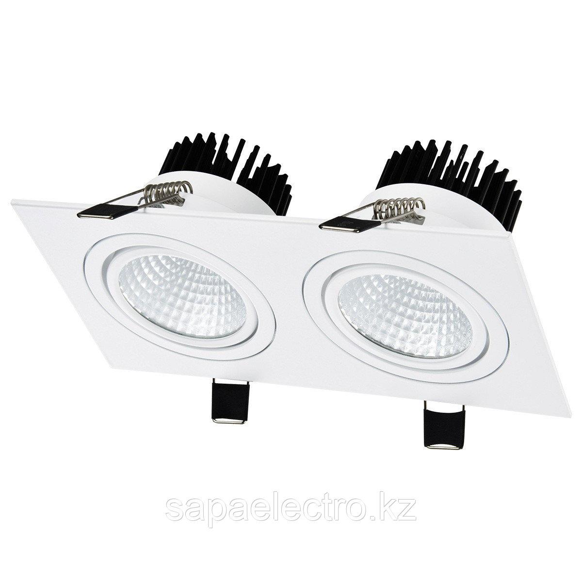 Свет-к LED OC001B 2х5W 5000K WHITE (TS) 50шт