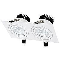 Свет-к LED OC003B 2х10W 5000K WHITE (TS) 30шт