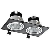 Свет-к LED OC004B 2х10W 5000K BLACK (TS) 30шт