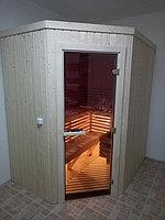 """Сборная финская сауна в частном доме. Индивидуальное изготовление. Размер = 2,0 х 1,5 х 2,1 м. Адрес: г. Алматы, к.г. """" Bella Villa"""". 3"""